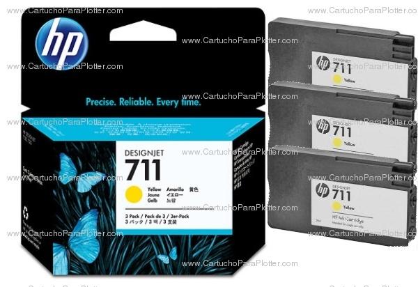"""Compre o cartucho HP 711 cor amarelo, para plotter HP Designjet T120 e HP Designjet T520 na versão """"Tri-Pack"""". São 3 cartuchos na mesma embalagem. Aproveite já e economize. Veja mais em http://www.lojadoplotter.com.br/cartuchos-de-tinta-hp/cartucho-e-cabecote-hp-711.html e clique no código do cartucho"""