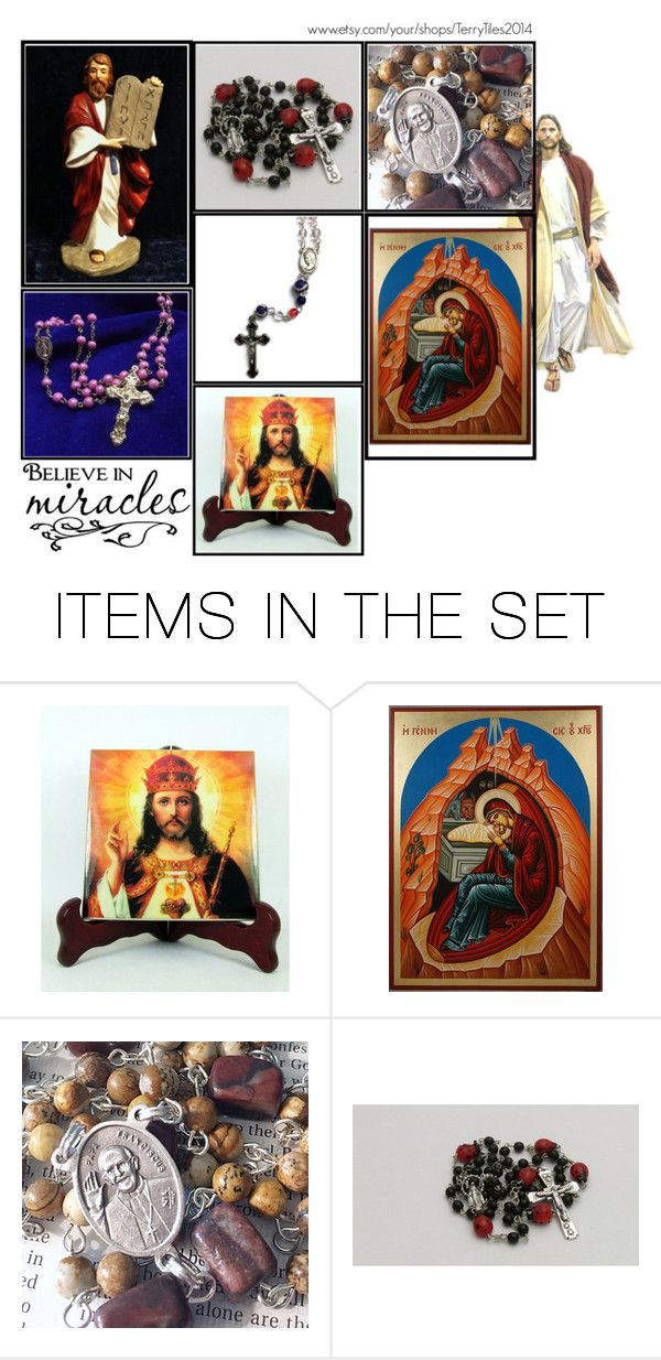"""Religious Art on Etsy by TerryTiles2014 - Volume 228"" by terrytiles2014 on Polyvore featuring arte, etsy, art, catholic e religious"