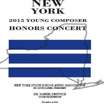 """NYSSMA Young Composer Honors Concert (2015) 