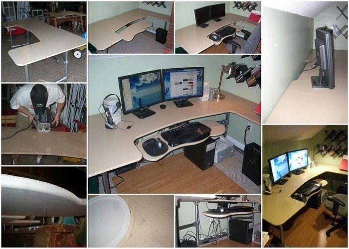 diy custom ergonomic computer desk plans httplanewstalkcomdiy - Custom Computer Desk Ideas