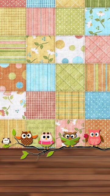 ❣Hoots Patched Wallpaper by iCandy❣