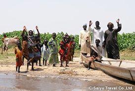チャド湖のボドゥマ族の暮らす島