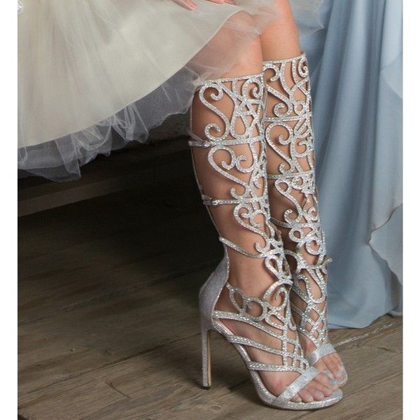 Silver Dressed Up Sparkly Heels and other apparel, accessories and trends. Browse and shop 5 related looks.