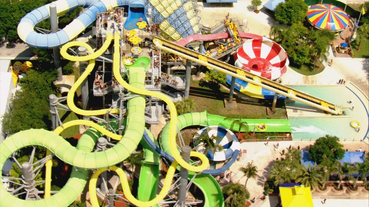 Bird's eye-view of Rapids Water Park in West Palm Beach ...