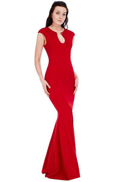 Červené plesové šaty City Goddess Florence