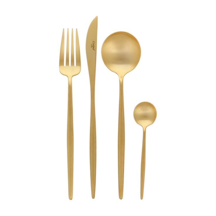 Discover the Cutipol Moon Matte Gold 24 Piece Cutlery Set at Amara