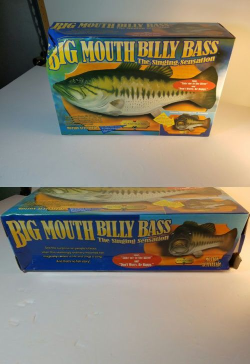 Novelties and Gifts 62143: Big Mouth Billy Bass 1999 Singing Fish Head Turns Gemmy Motion Activated W Box -> BUY IT NOW ONLY: $50 on eBay!