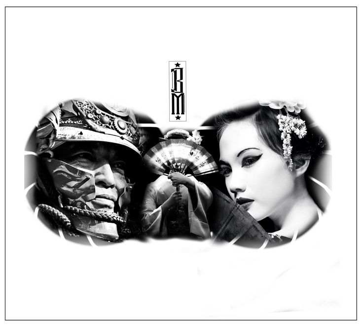 chest tattoo design   japanese geisha samurai chinese tattoos chest design black and grey