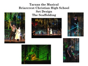Disney's Tarzan the Musical set