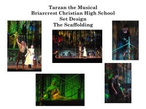 Disney's Tarzan the Musical set