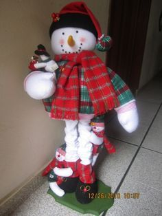 muñeco de nieve patas largas
