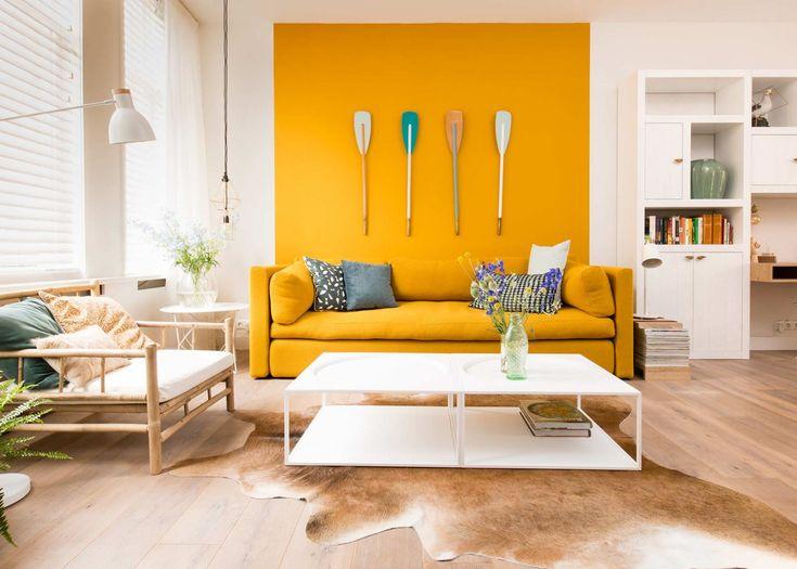 1000 idee n over gele woonkamers op pinterest meubel idee n muurschilderingen en gele tafel - Kleurkaart kleur interieur verf ...