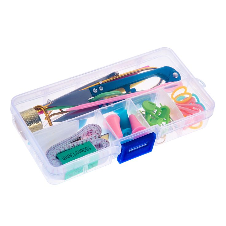 1SET Home Knitting Accessories DIY Knitting Tools Set Crochet Hook Stitch Weave Accessories Supplied With Case Box Yarn Knit Kit