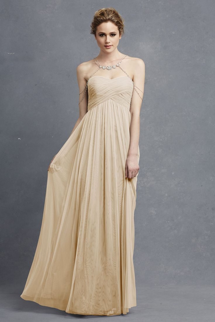 87 best dress images on pinterest long dresses bride dresses donna morgan felicity dress in whisper long grey bridesmaid dress donna morgan serenity collection love the boho cap jewelry ombrellifo Images