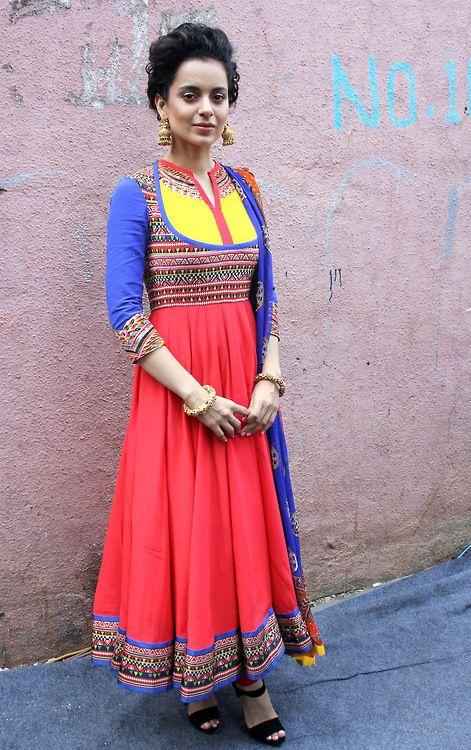 anarkali. indian fashion. kangna ranaut. red. celebrity.