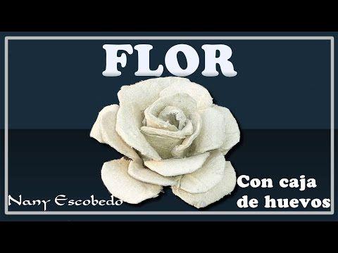 FLOR CON CAJA DE HUEVO - YouTube