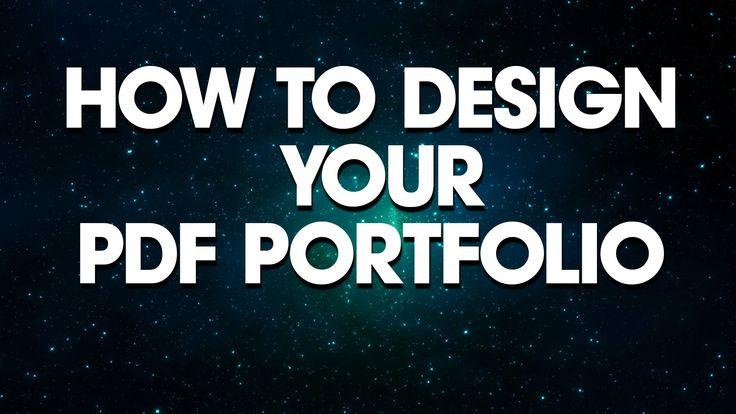 Graphic Design: How To Design Your PDF Portfolio