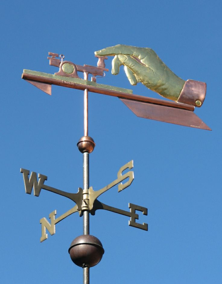 Morse Code Weather Vane by West Coast Weathervanes.