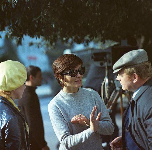 Larisa Shepitko on set during the filming of You and I (1971)..