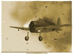 WWII FIGHTER PLANE WITH ENGINE BLOWN OFF! GRUMMAN HELLCAT DIVE BOMBER