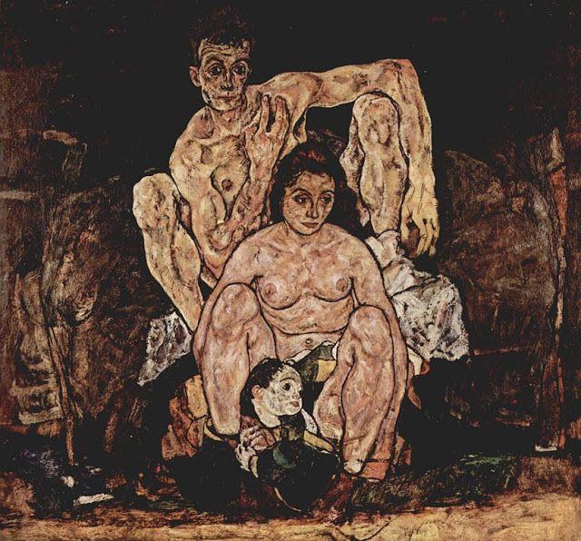 Η οικογένεια (1918) Πινακοθήκη Μπελβεντέρε στη Βιένη