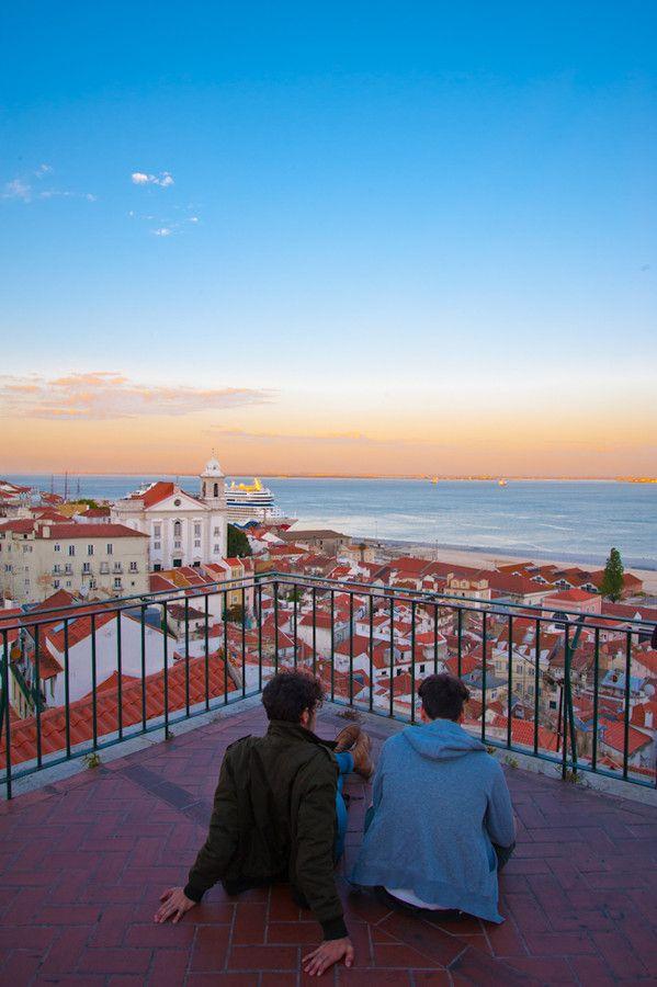 Portas Do Sol Viewpoint by Nuno Lapa, Lisbon, Portugal