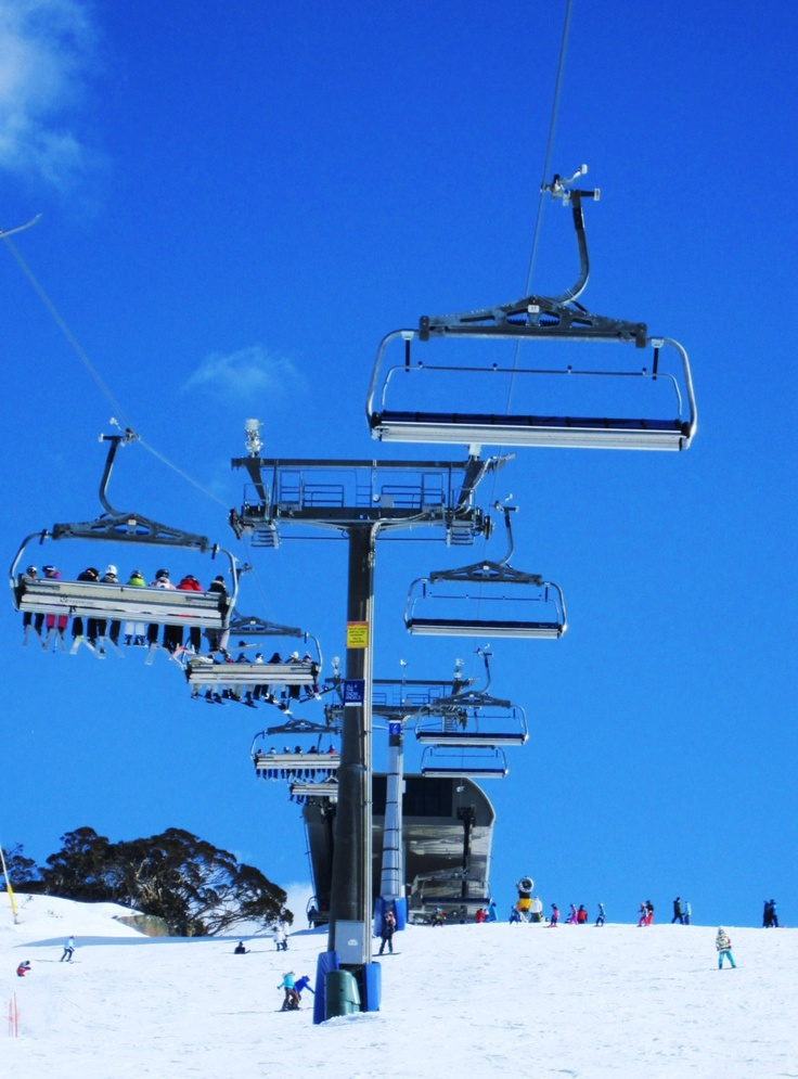 The V-8! Perisher Blue, Australia.   You always want to get #1 chair cause it is the best