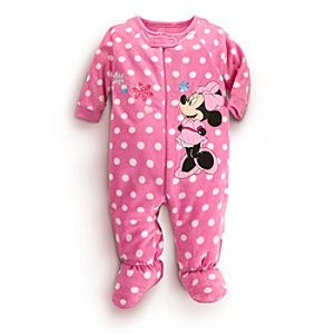 Disney Minnie Mouse Blanket Sleeper for Baby | Disney StoreMinnie Mouse Blanket Sleeper for Baby - Make sleepytime extra sweet with Minnie's Blanket Sleeper. A soft, cuddly pink pajama decorated with print polka dot pattern, this adorable sleep style features full zip front and attached slipper feet.