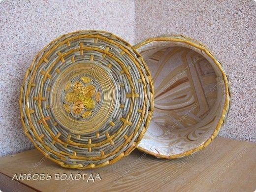 Splot bochonochek master class z wkładki papierowej Słomki zdjęcie 6
