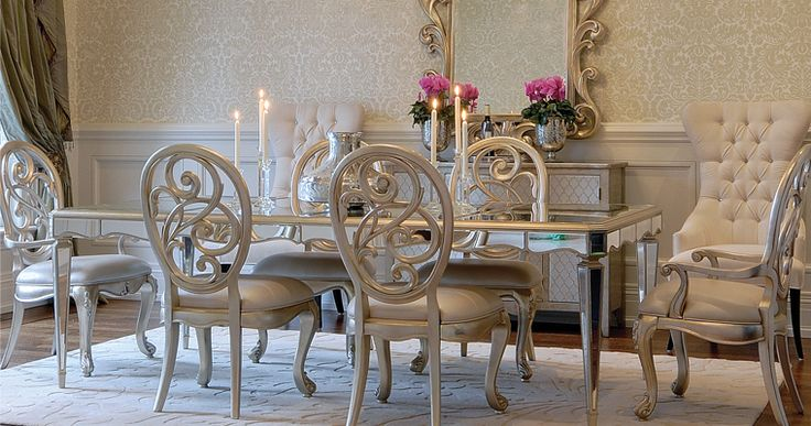 Antique mirrored dining table mirrored furniture pinterest