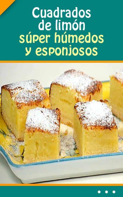 #Cuadrados de #limón súper húmedos y esponjosos. #Receta muy #fácil