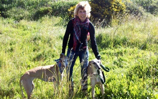 Charlotte - the founder of 112 Carlota Galgos, she tirelessly champions the welfare of the Spanish Galgo in every waking moment.
