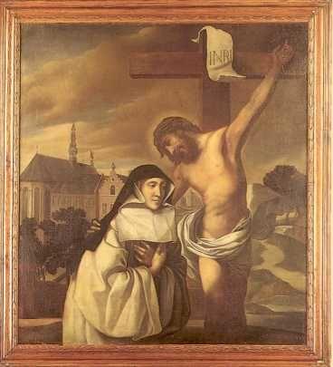 Lutgardis van Tongeren.  ca 1630. Schilderij door Abraham van Diepenbeek. België, Kerniel bij Borgloon, Cisterciënzerinnen priorij Kolen.