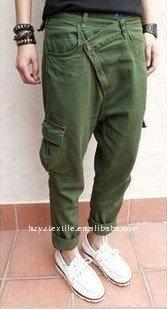 unique triangle design young men's fashion casual pants