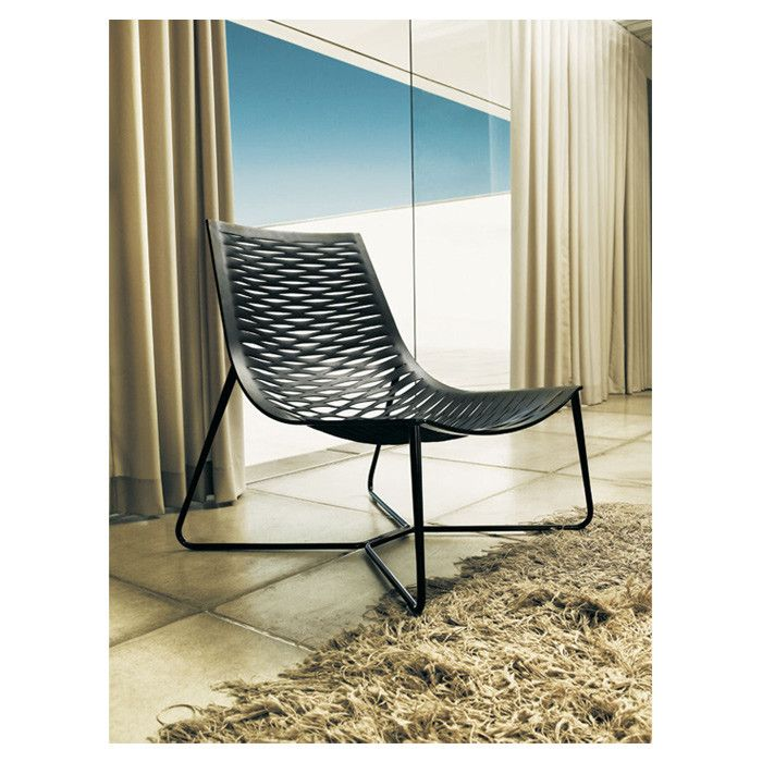 modloft york leather lounge chair allmodern