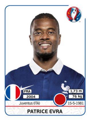 022 Patrice Evra - FRANCIA - EURO 2016