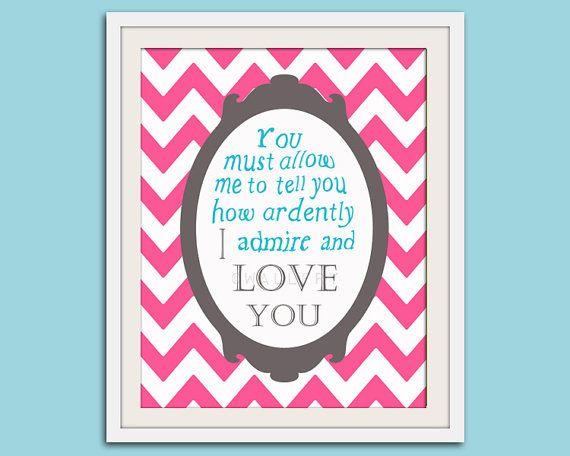 Jane Austen quote nursery art print Literature quote by Wallfry, $18.00