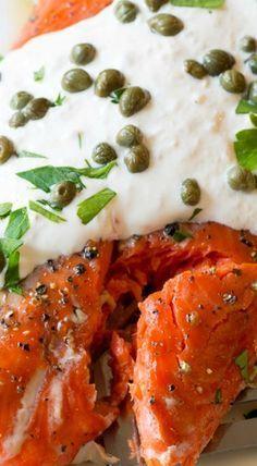 Smoky Oven Baked Salmon with Horseradish Sauce
