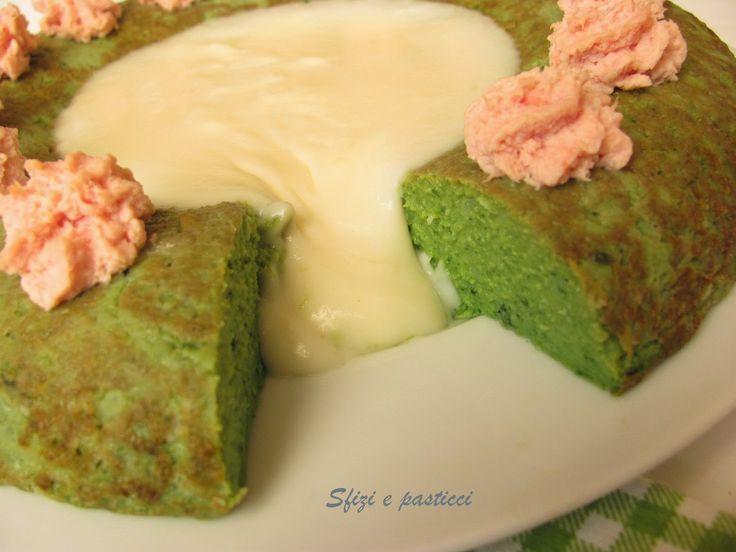 Sformato di broccoli con crema al formaggio