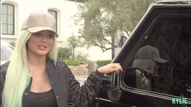 Living the good life! Kylie Jenner shows off her gorgeous and expensive car collection whice includes a Range Rover, a Mercedes-Benz, a Ferrari and a Rolls Royce.