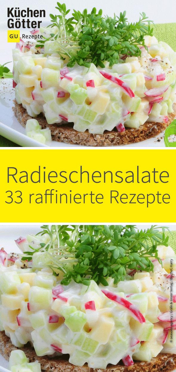 Curtain up for: The radish! We have 33 clever recipes for you …  – Salat-Rezeptideen