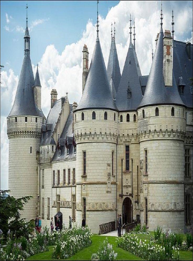 the château de chaumont sur loire in france...