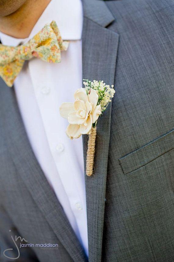 Ivory Gardenia Boutonniere Made to Order- Groom Wedding, Buttonhole, Groomsmen, Sola Flower, Wedding, Wedding Flowers on Etsy, $10.50