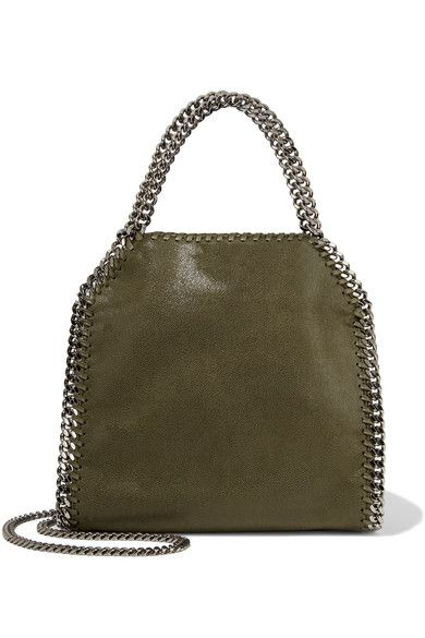 Stella McCartney   Falabella mini faux brushed-leather shoulder bag   NET-A-PORTER.COM