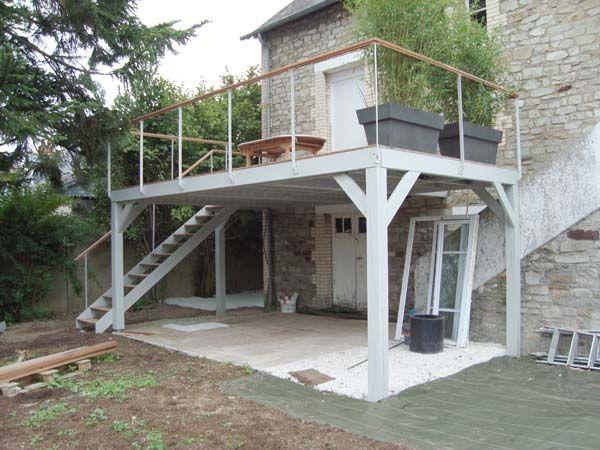 Terrasse Beton Sur Pilotis En 2020 Terrasse Sur Pilotis Terrasse Beton Terrasse Maison