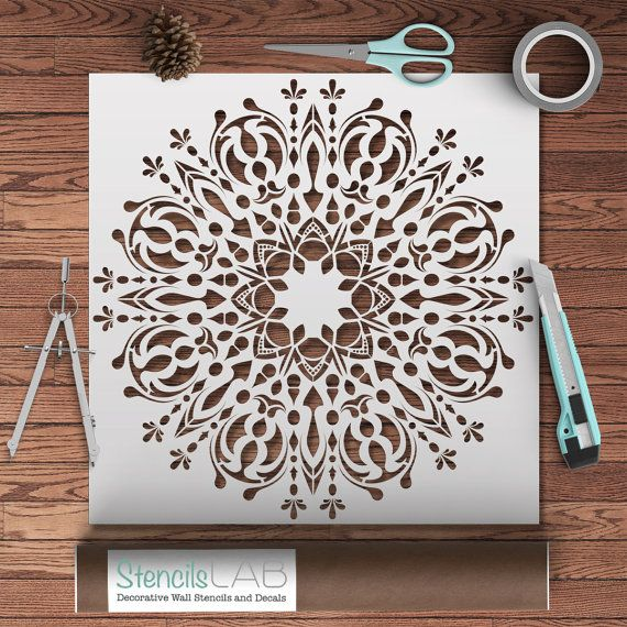 best 25 mandala stencils ideas on pinterest stencil wall art mandala on wall and furniture. Black Bedroom Furniture Sets. Home Design Ideas