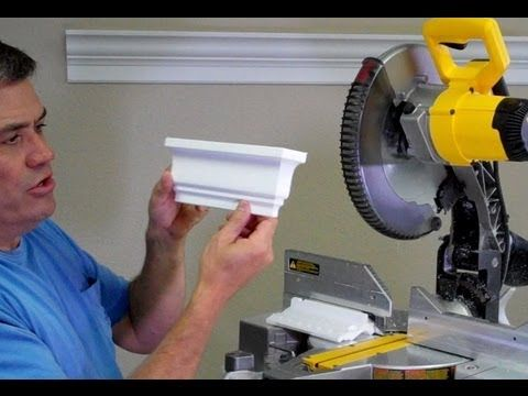 How cut a square dead end on the end of a crown molding run by Creative Crown - YouTube