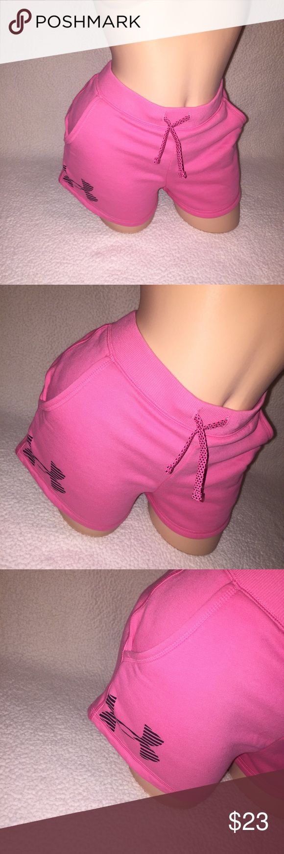 Women's Pink Under Armour Shorts UA Pink Shorts NWT Size S Can Fit Smaller M As Well Under Armour Other
