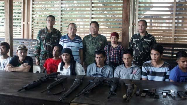 11 Abu Sayyaf members surrender to the Philippine Army in Basilan