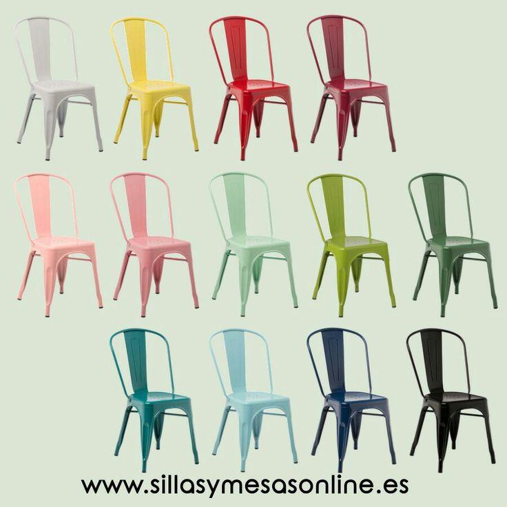 Silla Tólix colourful  industrial para hostelería y hogar.